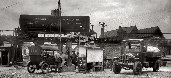 Dome Gas Station at Takoma Park in 1921.